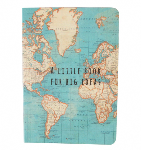 Sass & Belle - Vintage Map Notebook